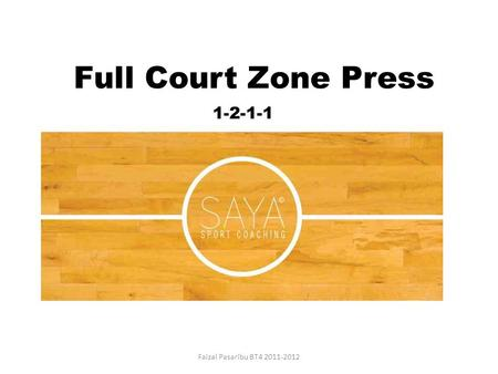 Full Court Zone Press 1-2-1-1 Faizal Pasaribu BT4 2011-2012.