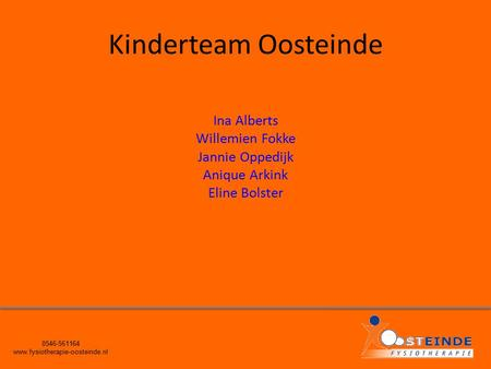 Kinderteam Oosteinde Ina Alberts Willemien Fokke Jannie Oppedijk