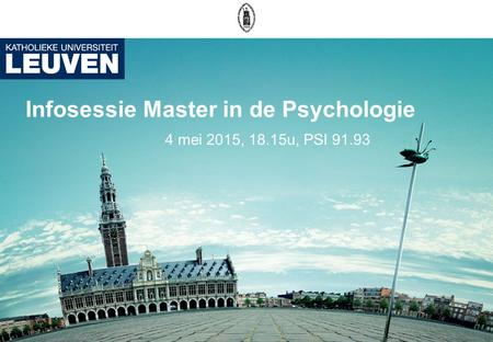Infosessie Master in de Psychologie