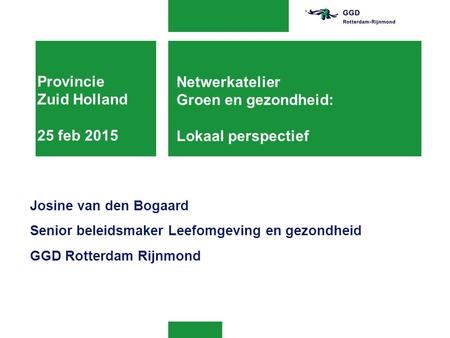 Provincie Zuid Holland 25 feb 2015