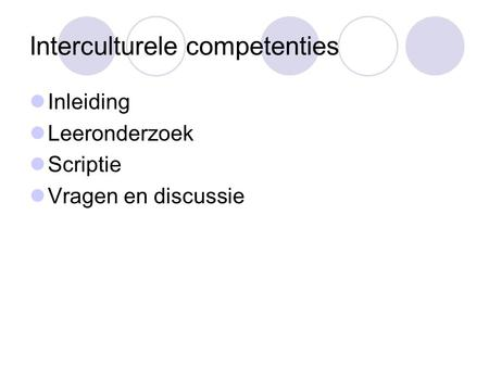 Interculturele competenties