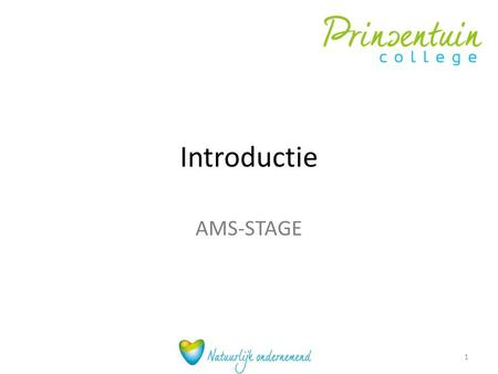 Introductie AMS-STAGE.