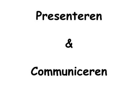 Presenteren & Communiceren. Guus Mulder