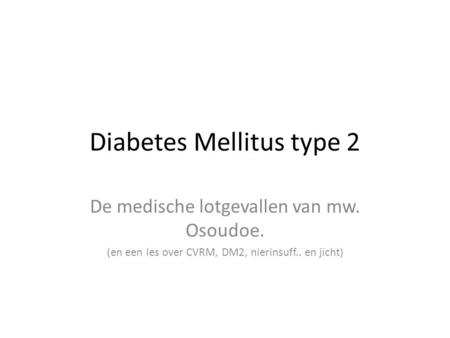 Diabetes Mellitus type 2