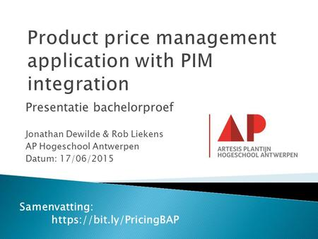 Product price management application with PIM integration