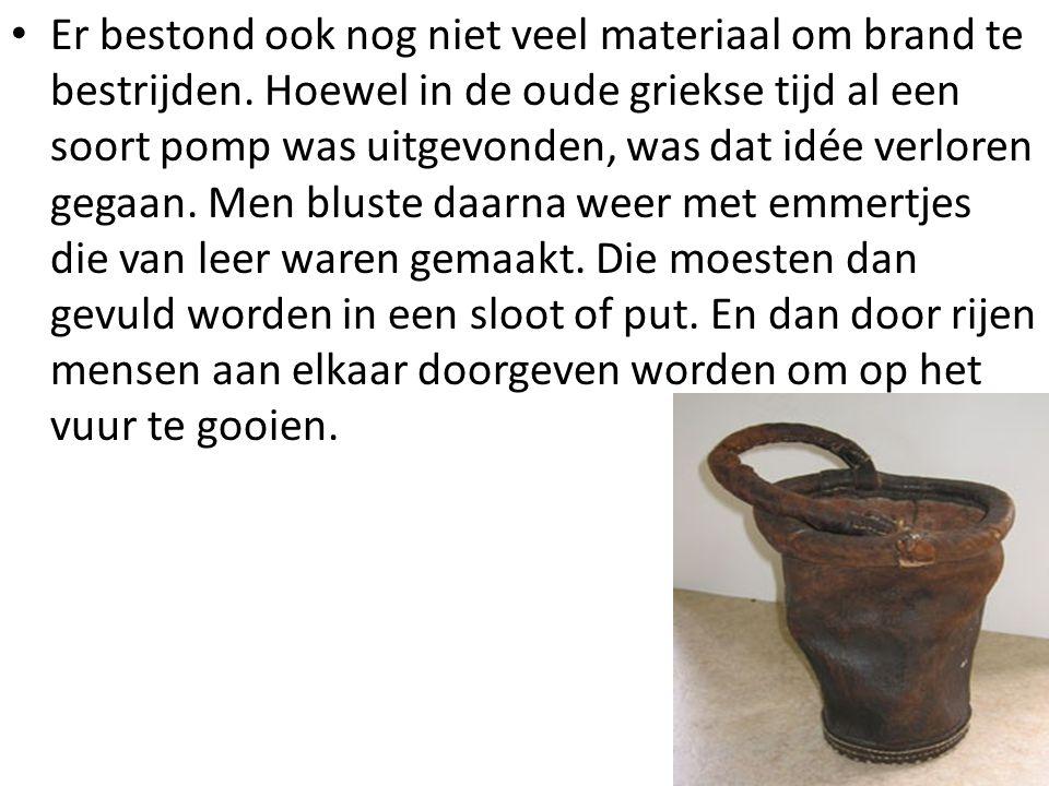 • Jan van der heyden was de man die (opnieuw) de brandspuit uitvond.