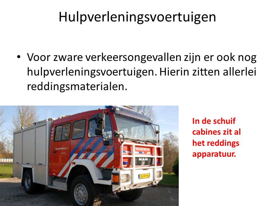 Haakarmbakken • Omdat de brandweer zoveel verschillende taken heeft, is het niet praktisch voor elke situatie een complete wagen aan te schaffen.