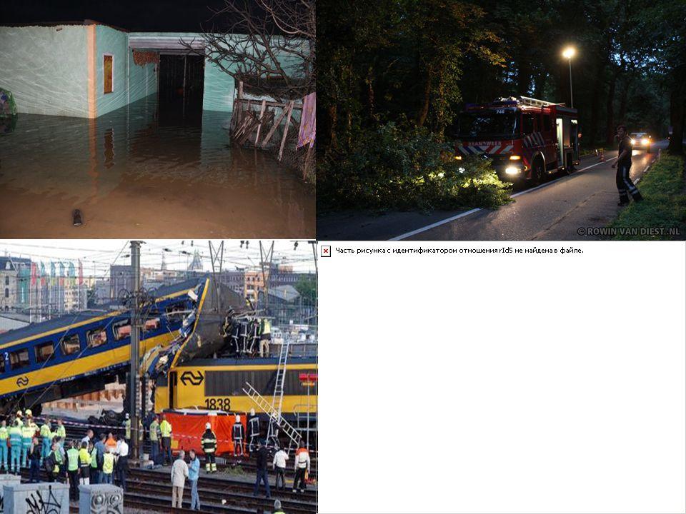 • Bij een ramp kun je denken aan een treinbotsing, een vliegtuigongeluk of een overstroming.