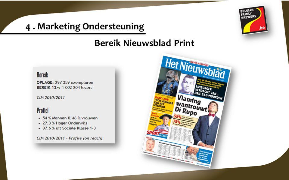 4. Marketing Ondersteuning Bereik www.Nieuwsblad.be