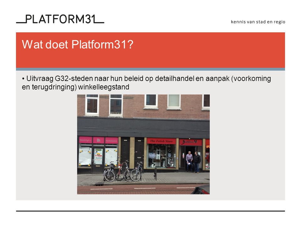 Wat doet Platform31.