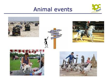 Animal events Locatiedirecteur Introductie dia – nog niets uitleggen.