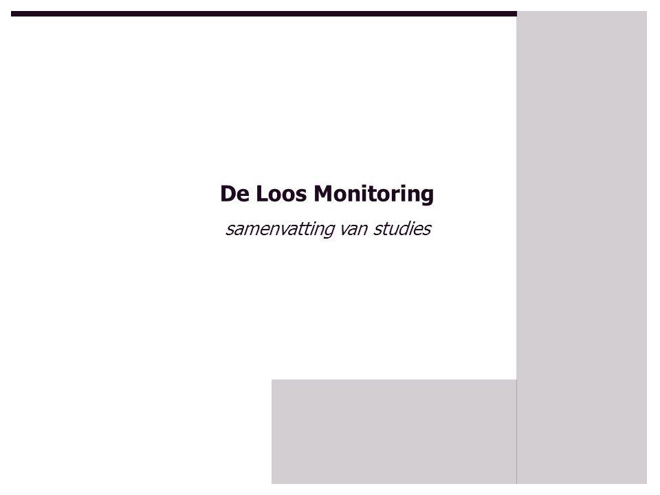 studies o over degelijk bestuur (gouvernance) o over visie op monitoring o over inbedding van monitoring o over de rol van monitoring o stappenplan verbeteringsgerichte monitoring o gerichtheid en monitoring I & II De Loos Monitoring