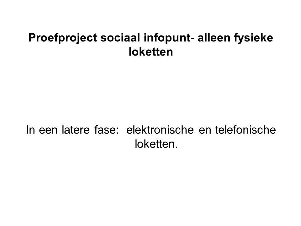 timing •Start proefproject: 16 januari 2012 •Evaluatie: 30 juni 2012