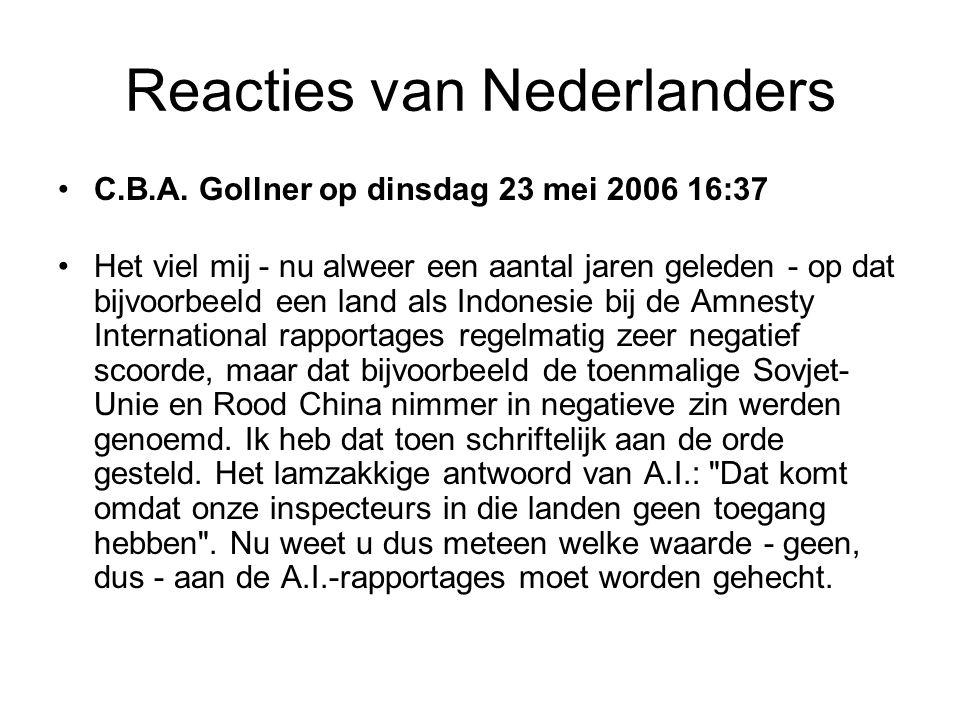 Reacties van Nederlanders •zlato op dinsdag 23 mei 2006 15:24 •Amnesty International,....