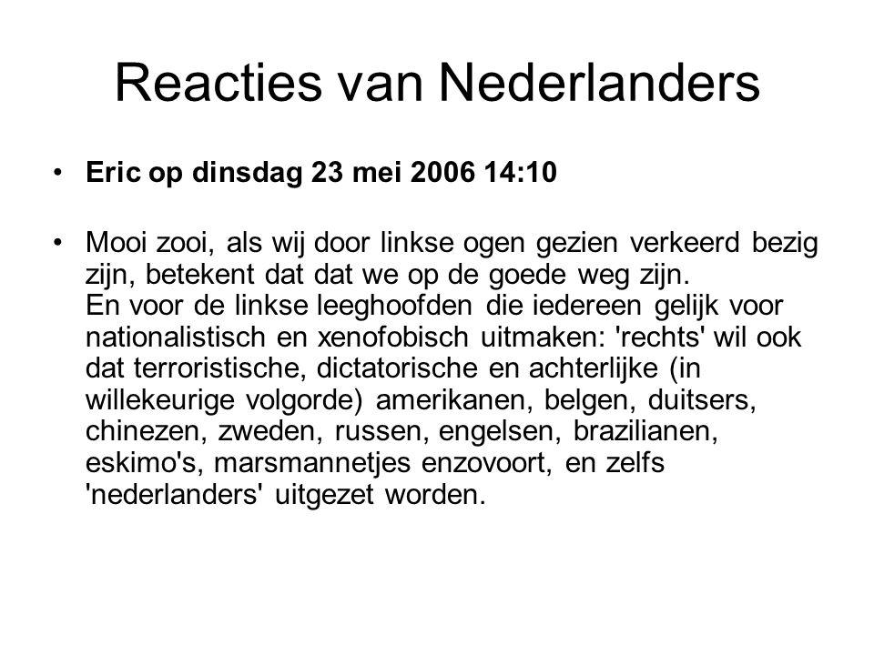 Reacties van Nederlanders •K.R.van Mourik op dinsdag 23 mei 2006 14:03 • Zijn advocaten zijn bang dat de man daar als vijandelijke strijder wordt behandeld, omdat hij de kaarten aan leden van terreurbeweging Al Qa'ida zou hebben geleverd. De gekte van de Amerikanen kent geen grenzen: iemand als vijandelijke strijder behandelen om zoiets onbenulligs als het leveren van kaarten aan dat onschuldige clubje dat Al Qa ida heet.