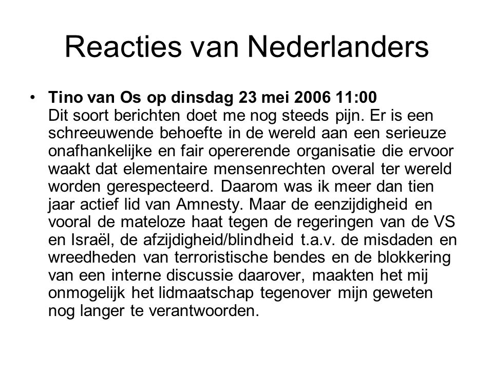 Reacties van Nederlanders •Jhr Mr P.Bast kol bd.