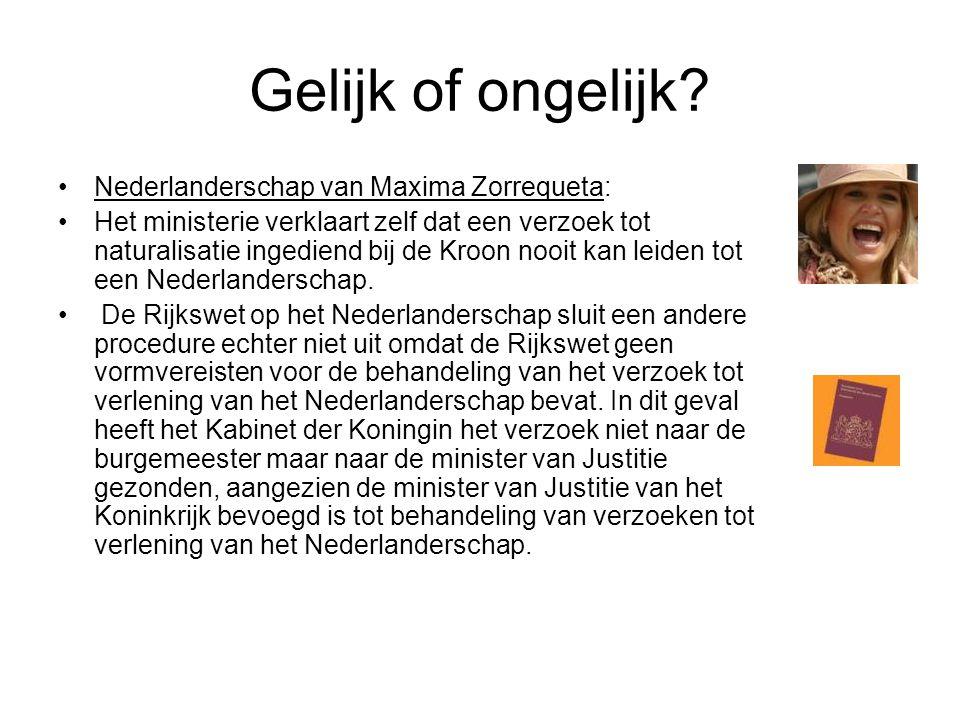Elena's commentaar… •Op het moment dat ze Nederlandse werd, had het parlement echter nog geen toestemming voor haar huwelijk met kroonprins Willem-Alexander gegeven.