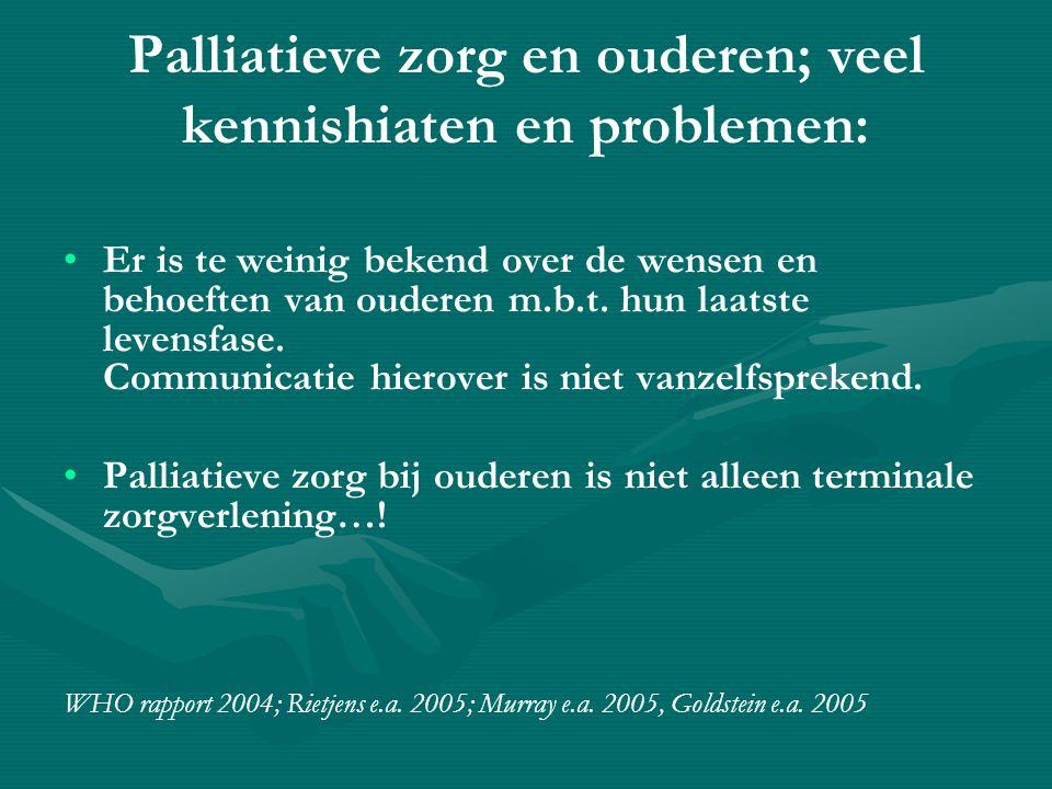 The palliative care continuum; palliative care in the elderly is a longitudinal process!