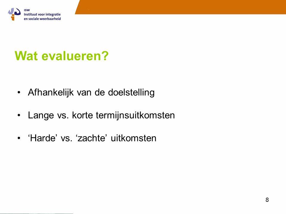 Evaluatie onderzoek mentorprojecten •Waarom? •Wie? •Wat? •Hoe? •Wanneer?