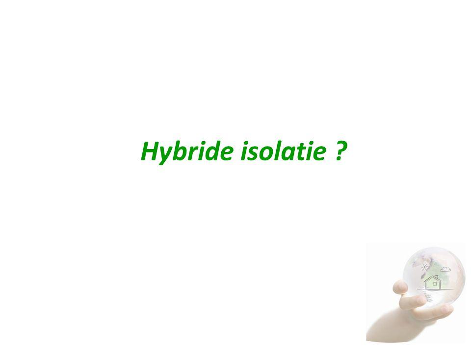 Hybride isolatie Wanneer stoppen wij met het verwarmen van de schil…..?