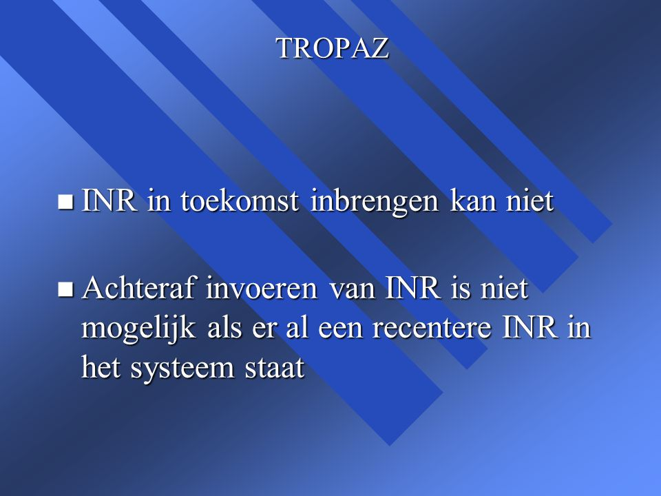 Presentatie n Deze presentatie kunt u terugzien op www.trombosedienst-leiden.nl www.trombosedienst-leiden.nl n onder Zelfmeten > Zelfdoseren > Informatie doseren