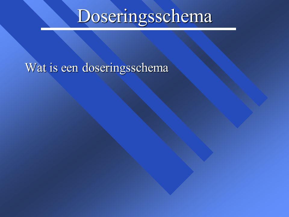 Wat valt u op in dit doseringsschema?
