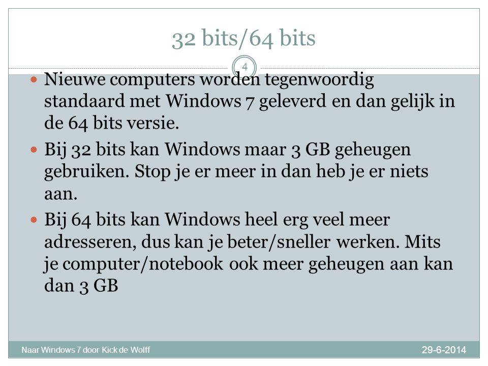 Wat zit er niet meer in: 29-6-2014 Naar Windows 7 door Kick de Wolff 5  De programma's: Kalender, Mail, Messenger, Movie Maker en Fotogalerie zijn weg.