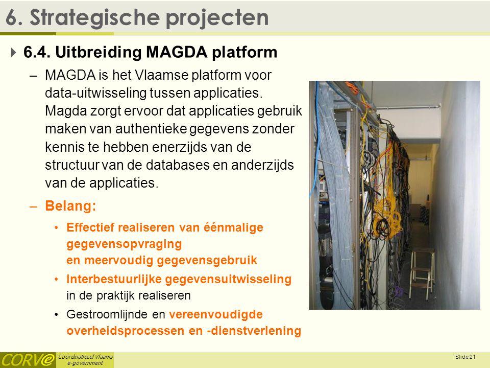 Coördinatiecel Vlaams e-government Slide 22 6.