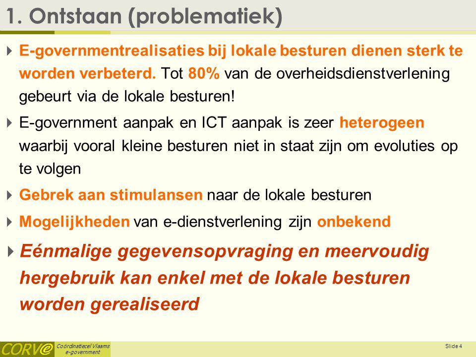 Coördinatiecel Vlaams e-government Slide 5 2.