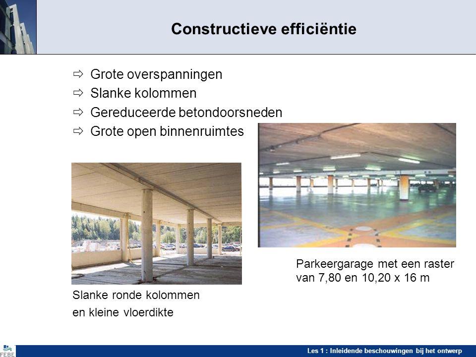 Les 1 : Inleidende beschouwingen bij het ontwerp Aanpasbaarheid Mogelijkheid om de gebouwen aan te passen aan de noden van de gebruikers Vooral voor kantoren, maar in de toekomst ook voor woningen, appartementen, enz.