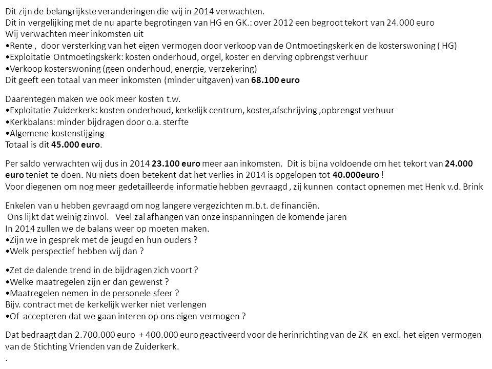 onderhoud Zuiderkerk • ten laste van de kerkelijke Gemeente; • financiële ondersteuning door Stichting vrienden van de Zuiderkerk; • subsidies (vooral van Rijksoverheid).