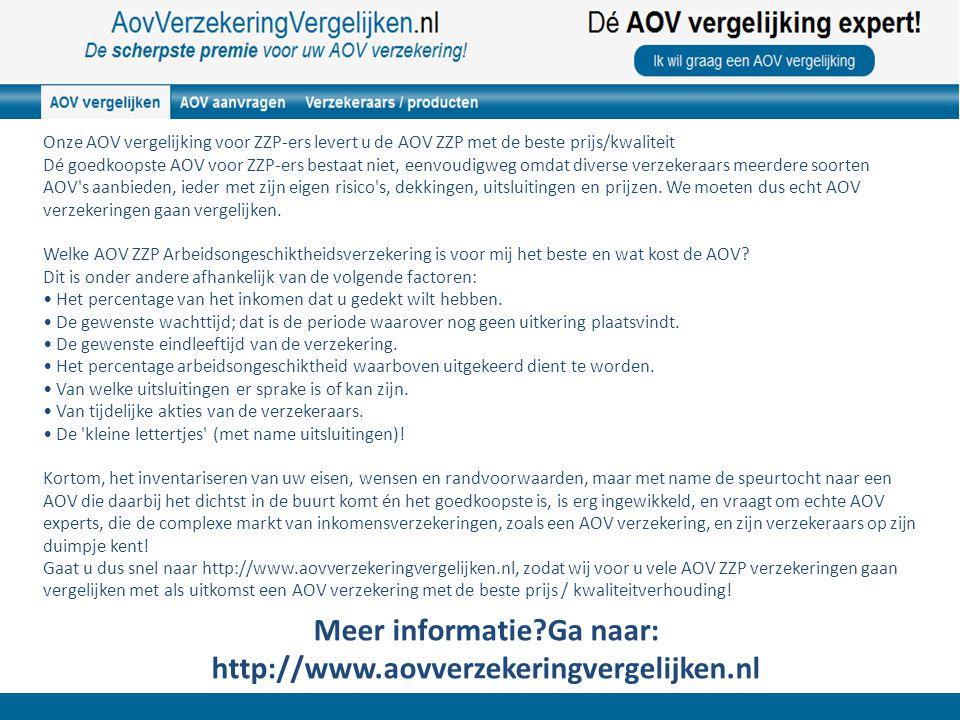 AOV verzekeringen voor ZZP-ers vergelijken is erg lastig, want elke verzekeraar heeft zijn eigen voorwaarden.