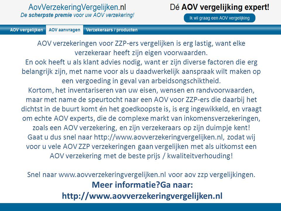 De scherpste ZZP AOV van Nederland.