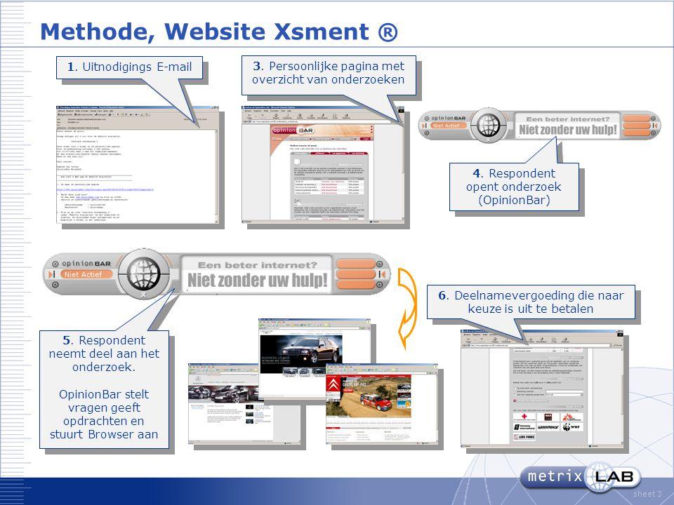 sheet 4 Overall Oordeel Wat is uw algemeen oordeel over deze website?