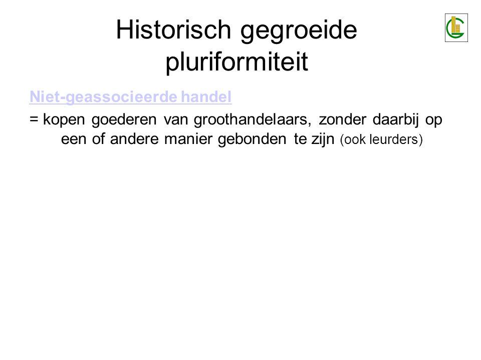 Historisch gegroeide pluriformiteit Directe distributie aan consument = zonder tussenkomst van bijvoorbeeld winkels.