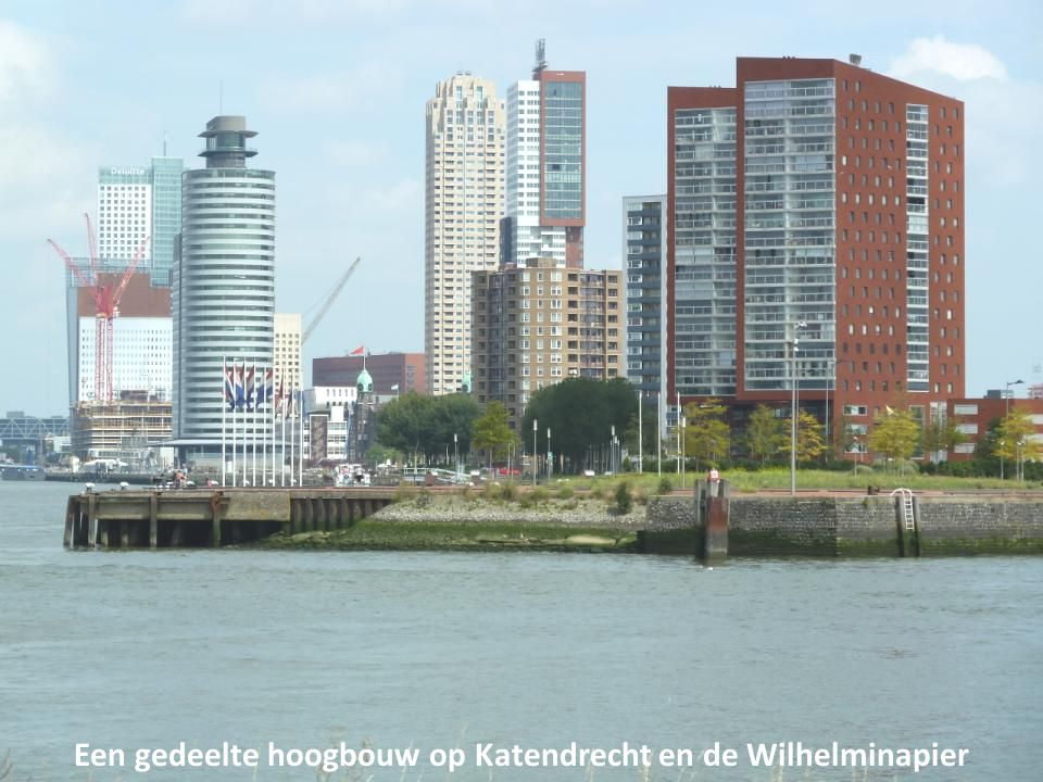 Een gedeelte hoogbouw op Katendrecht en de Wilhelminapier