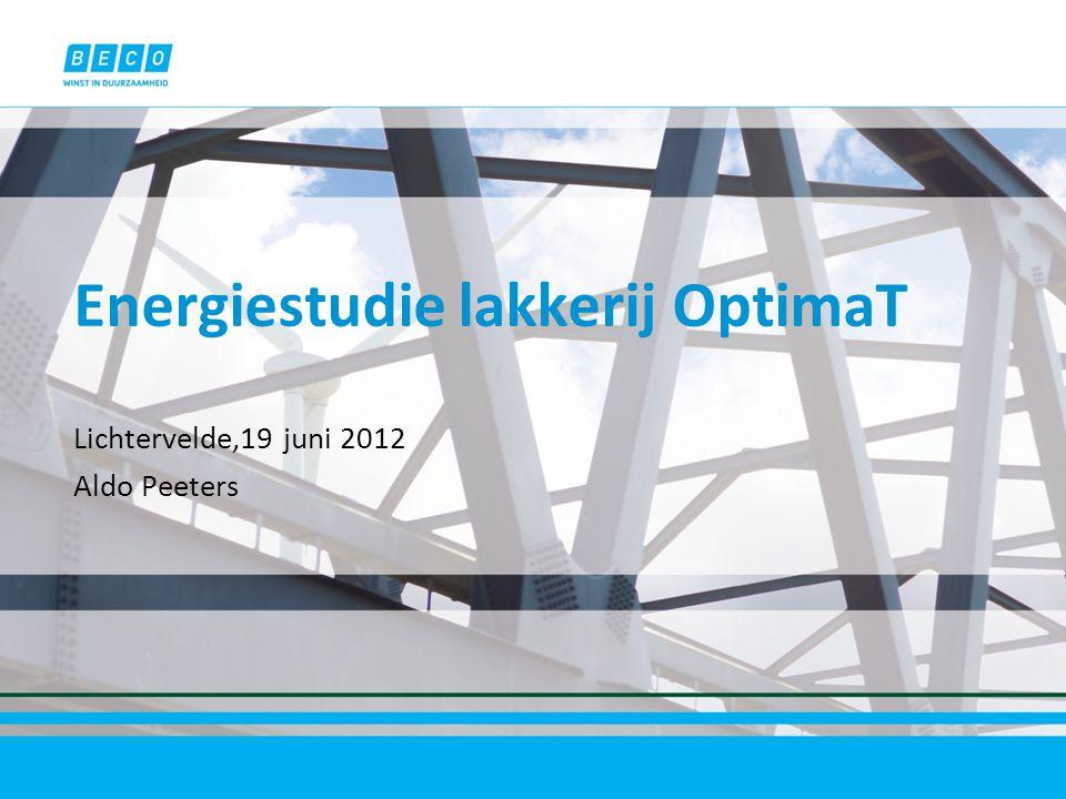 Inhoud BECO België Poederlakproces Voorgeschiedenis Beschikbare gegevens Bijkomende metingen Analyses energiebalansen Besparingsmaatregelen Implementatie en resultaten