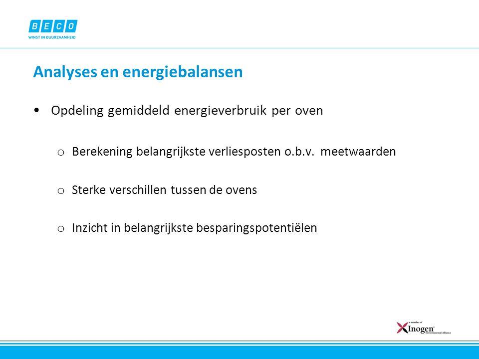 Analyses en energiebalansen Voorbehandeling