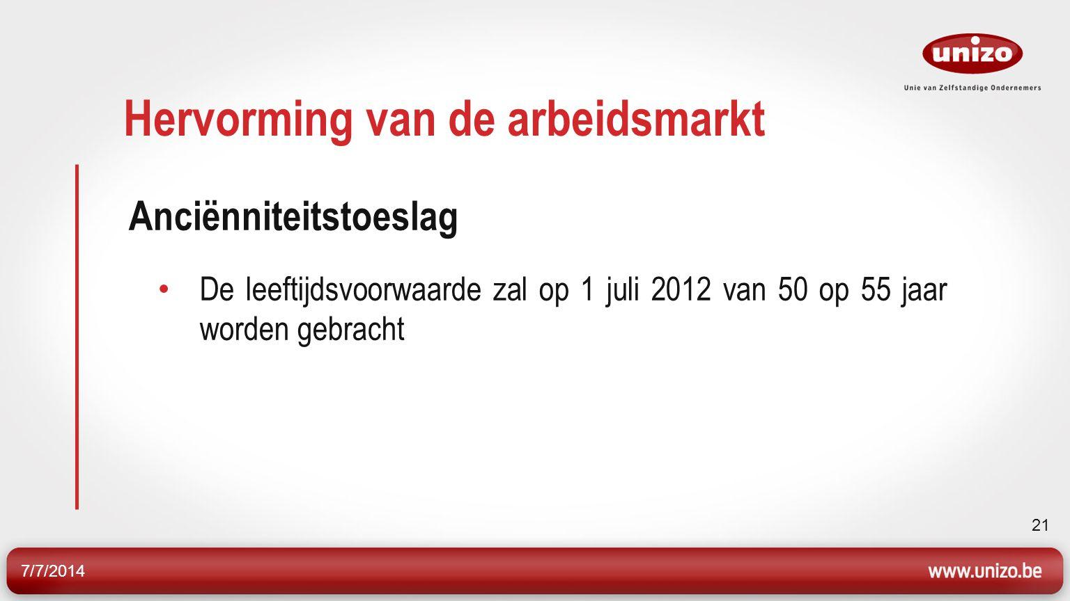 7/7/2014 22 Hervorming van de arbeidsmarkt 2.