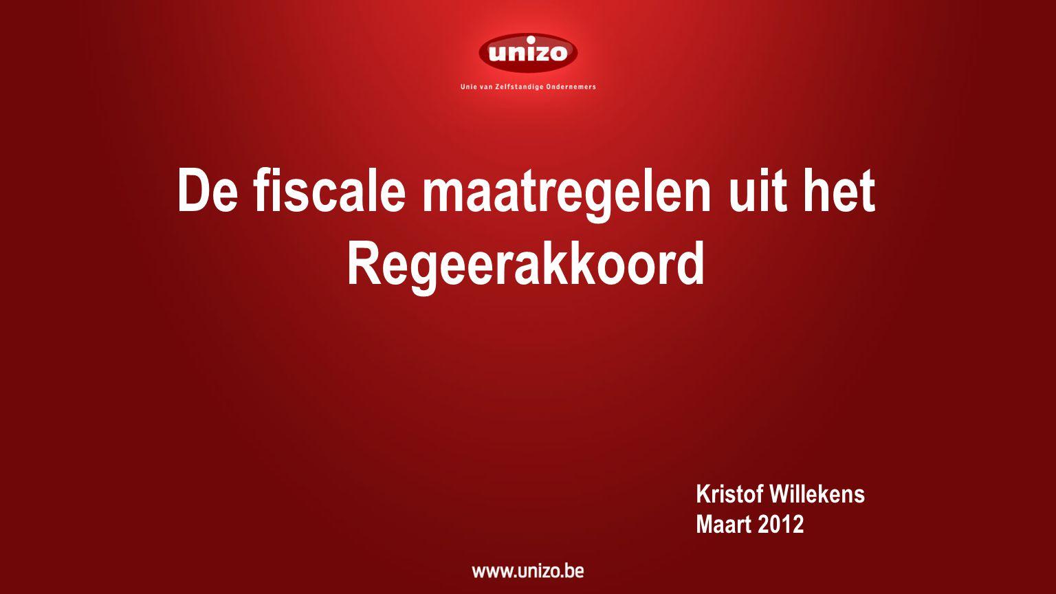 51 Uitgangspunten 11 miljard euro + 2 miljard bij begrotingscontrole Europese aanbevelingen Basis nota Di Rupo ↔ UNIZO : uitgaven .