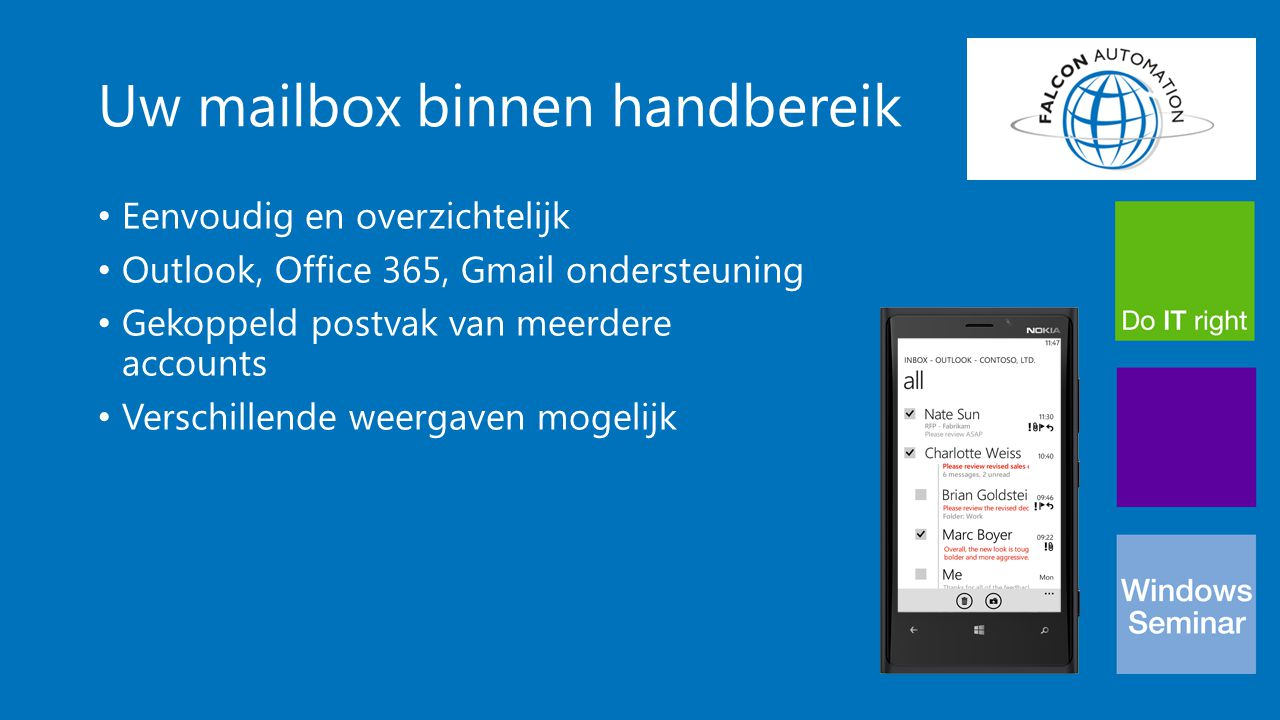 Office Mobile Volledig mobiel Office pakket Word Excel PowerPoint OneNote Synchronisatie Skydrive & SharePoint