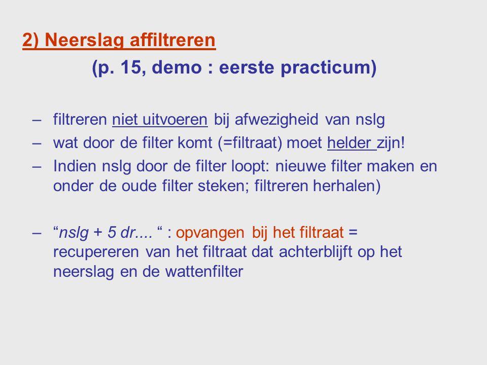 Maken van een filter 13245 6 7 Glazen staaf Stompe kant !