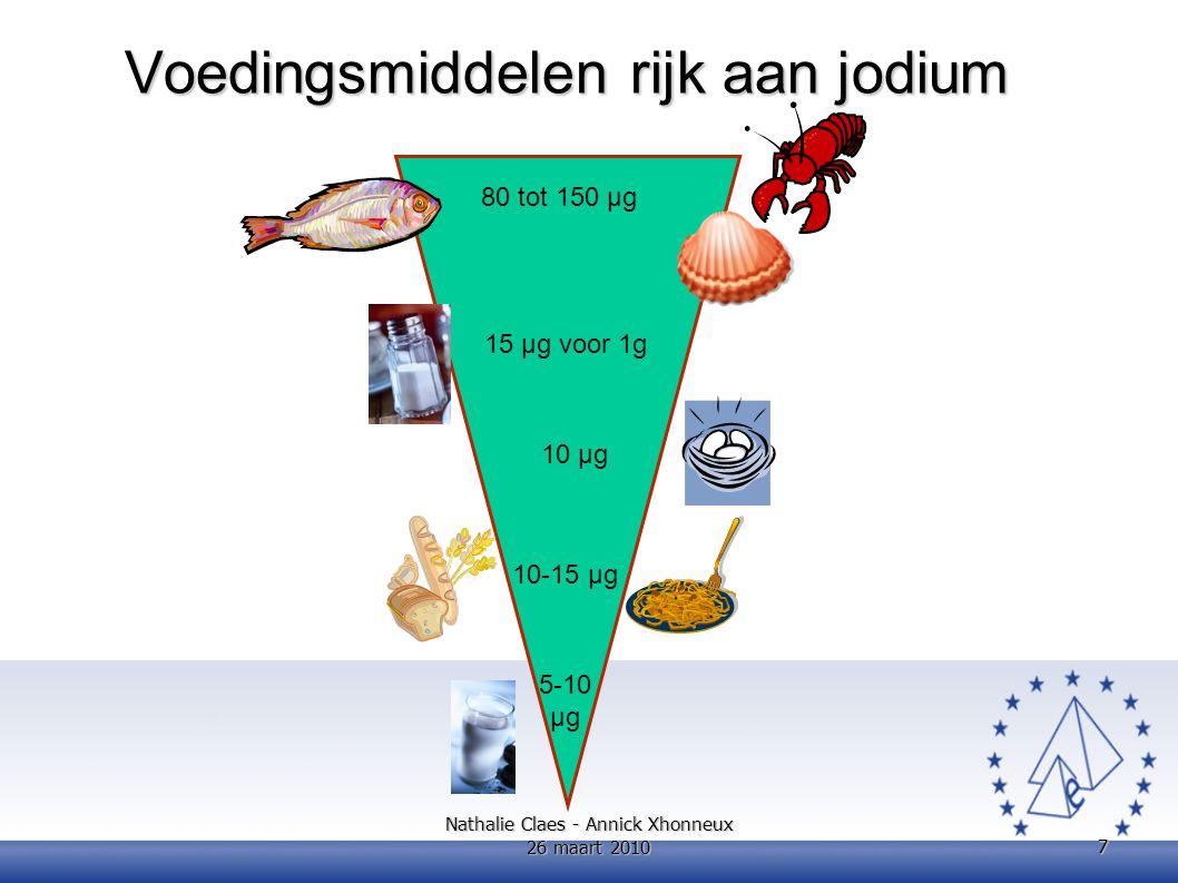 Linolzuur (18:2 n-6) Alfa- linoleenzuur (18:3 n-3) Arachidonzuur (20:4 n-6) Docosahexaeenzuur (DHA, 22:6 n-3) MOVZ n-3 met lange keten (EPA + DHA) % energiewaardemg/dag Peuter (1 tot 3 jaar)2,700,45- a 70 b - c Kind (3 tot 9 jaar)4,001,00- a 125 b 250 b Adolescent (10 tot 18 jaar)4,001,00- a 250 b 500 b Aanbevolen dagelijkse hoeveelheid meervoudig onverzadigde vetzuren precursoren en met lange keten voor kinderen en adolescenten (ADH 2010) a Gebrek aan gegevens om aanbevelingen te formuleren b Door de variabiliteit van de dagelijkse energieratio kunnen die ADH's niet uitgedrukt worden in % energie c Er bestaan geen gegevens op basis waarvan behoeften EPA + DHA kunnen worden bepaald Dia van Prof.