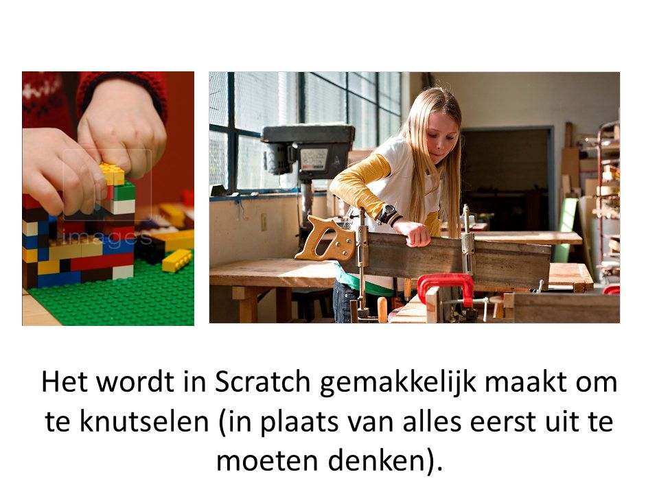 Scratch blocks are shaped to fit together only in ways that make syntactic sense.