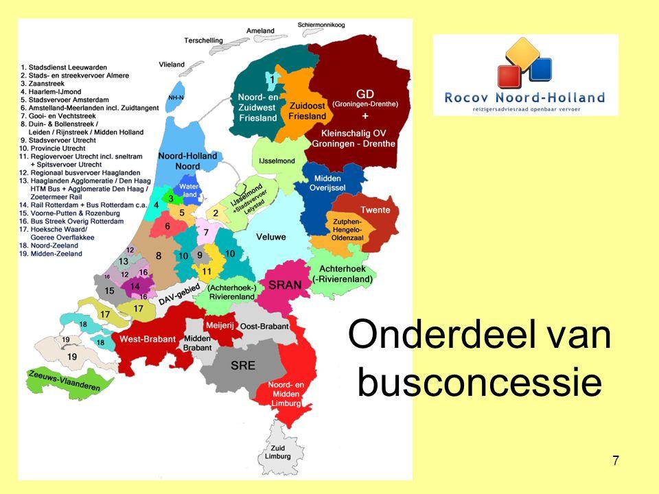 8 Buurtbussen in Noord-Brabant 50 buurtbussen Sterke regie van de provincie.