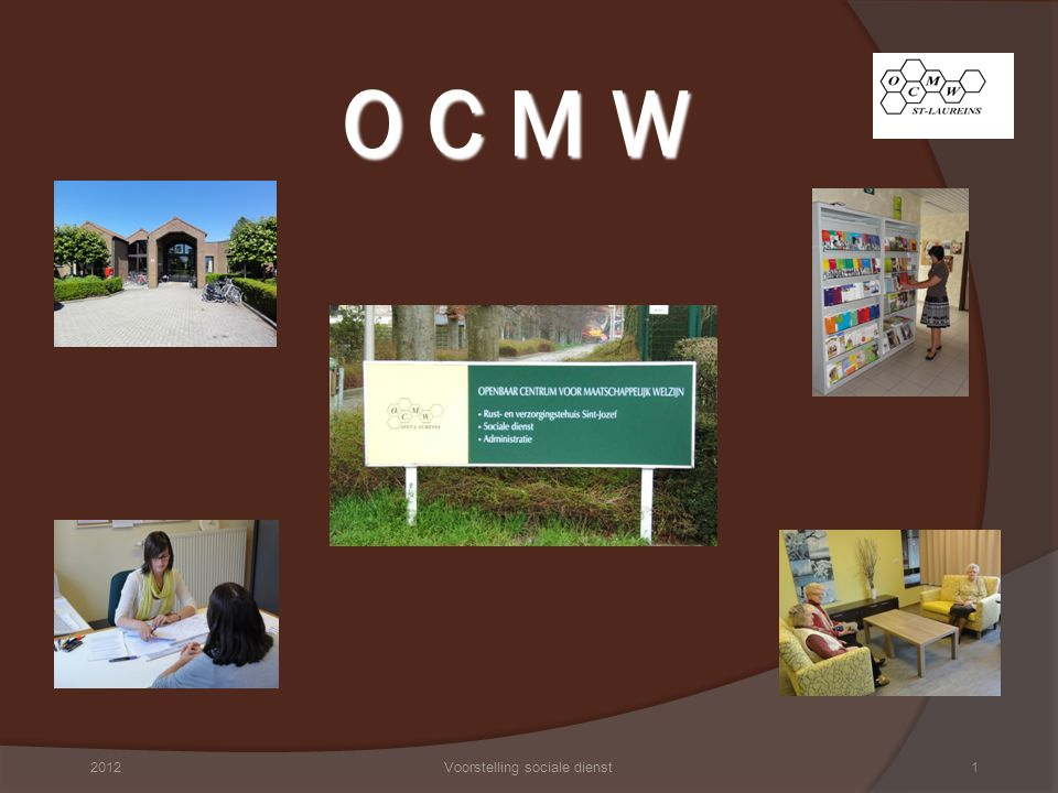 Organogram 20122Voorstelling sociale dienst
