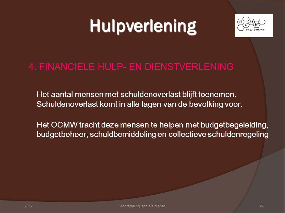 We onderscheiden vier soorten financiële begeleiding: A.