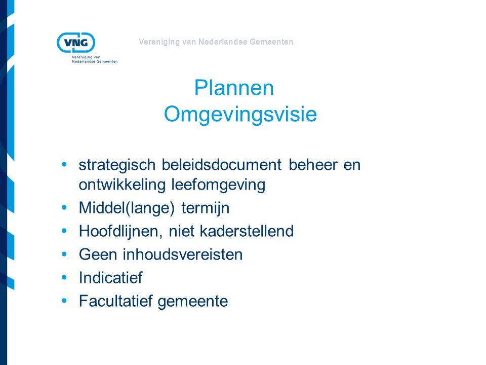Vereniging van Nederlandse Gemeenten Plannen Programma Concrete maatregelen: - behoud, beheer - gebruik en ontwikkeling Programmatische aanpak: - gebruiksruimte binnen een norm - bijzondere juridische status