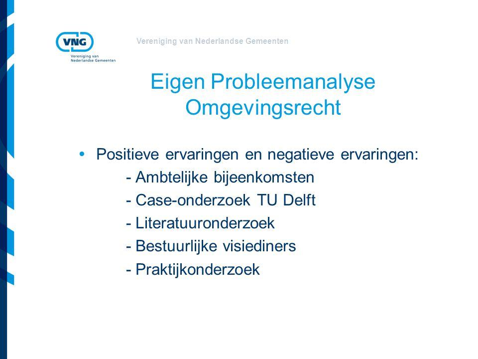 Vereniging van Nederlandse Gemeenten Vandaag Drie Taskforces  Plannen: visie, bestemmingsplan en beheersverordening  Projecten: projectbesluitvorming, afwijking normen en programmatische aanpak  Vergunning, toezicht & handhaving: algemene regels en vergunningen
