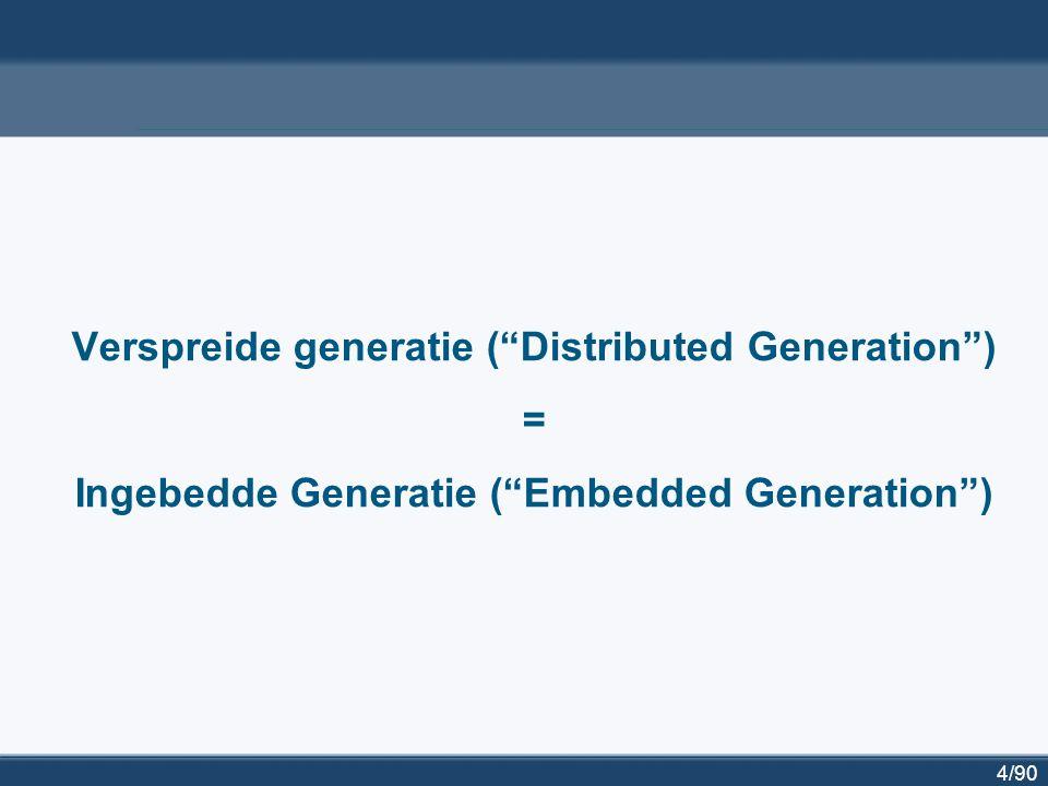 5/90 Van 'top-down supply' naar 'embedded generation'